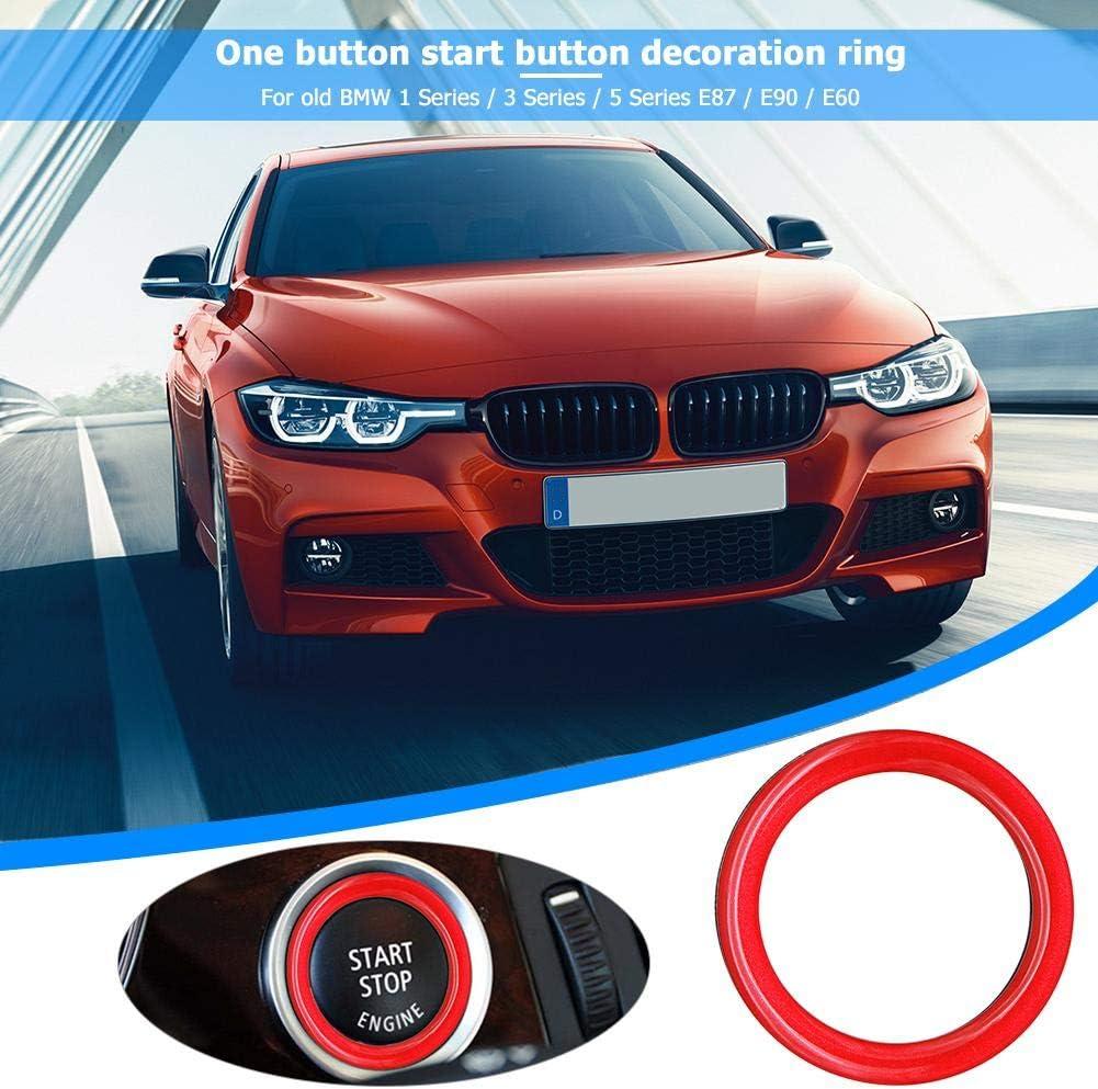 Red Engine Start Stop Button Ring Trim for 1//3//5 Series E87 E90 E60 320