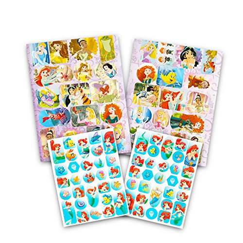 Amazon Disney Princess Stickers And Poster Activity Book Deluxe Coloring With Over 80 2 Posters Featuring Cinderella Belle