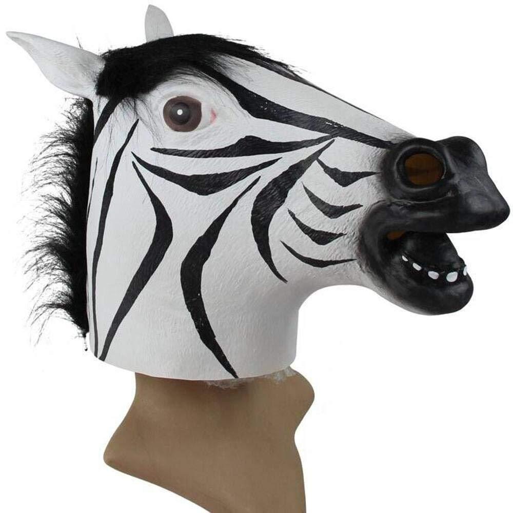 Circlefly Zebra Cabeza máscara Mascarada de Halloween Pelucas complicado para niños Divertidos Accesorios de la Barra