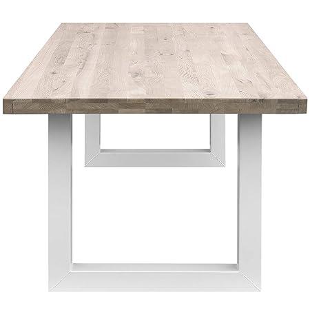COMIFORT Mesa de Comedor - Mueble para Oficina de Roble Macizo ...