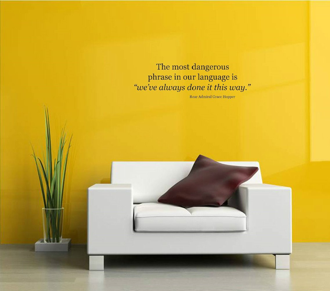 Amazon.com: Wall Vinyl Decal TEAM The most dangerous phrase in our ...