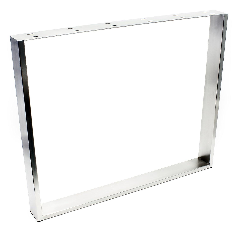 Wiltec Tischgestell 90x73cm Edelstahl Tischuntergestell Tischkufe Kufengestell