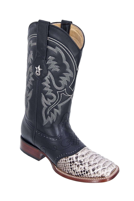Genuine PYTHON NATURAL WIDE SQUARE Toe Los Altos Men's Western Cowboy Boot 8215749