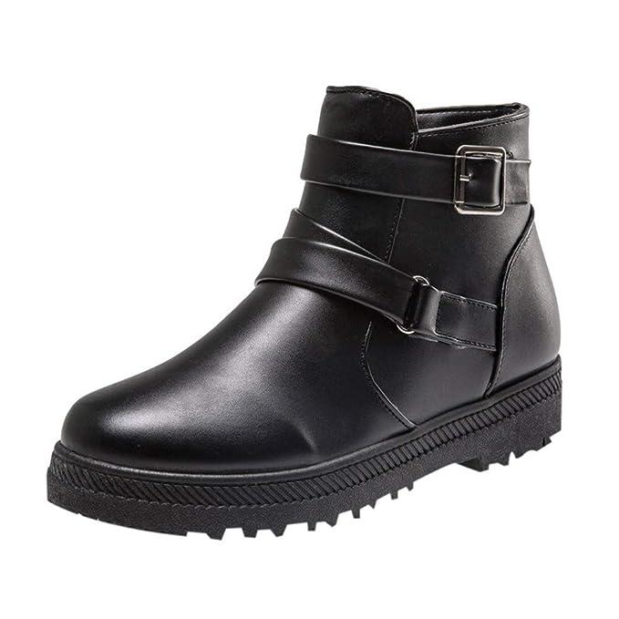 4b8db033941c1 Amazon.com: Toimothcn Women Solid Warm Winter Short Shoes PU Flat ...