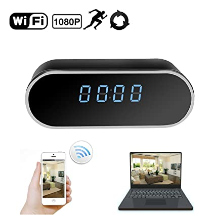 Amazon Com Daretang Wifi Hidden Camera Clock Upgraded Wireless Spy