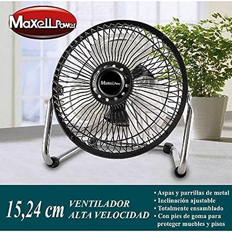 Ventilador Portatil Metalico de Sobremesa mini Potente│ MP3686 ...