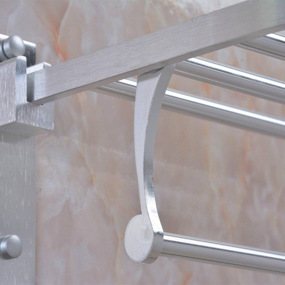 Ueannryer Space Aluminum Wiredrawing, Bright Everbright, Wai Bath Towel Rack, Bathroom Towel Rack