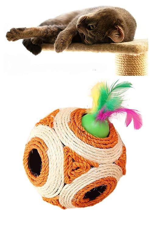 Amazon.com: Dplus - Pelotas de juguete para gato, rascador ...