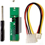 MintCell M.2 M (M2) Key NGFF to PCI-E (PCIE) 4x Adapter With 4 Pin MOLEX Power Cable v1.0