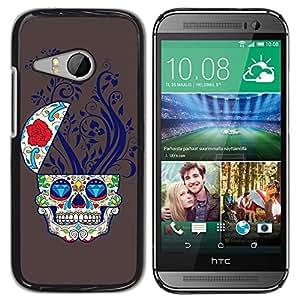 LASTONE PHONE CASE / Diseño de Delgado Duro PC / Aluminio Caso Carcasa Funda para HTC ONE MINI 2 / M8 MINI / Cool Sugar Skull