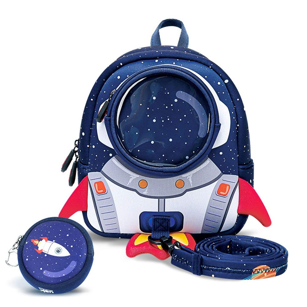 GYYlucky Anti-Lost Backpack 3-6 Years Old Kindergarten Bag Children Boys and Girls Baby Anti-Lost Rocket Backpack (Color : A)
