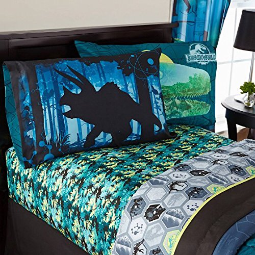 Universal Inc. Jurassic World Microfiber Sheet Set - (Indominus Rex Costume)