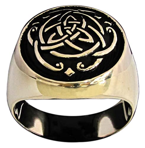 Celta infinity nudo anillo Thor Viking símbolo en bronce ...