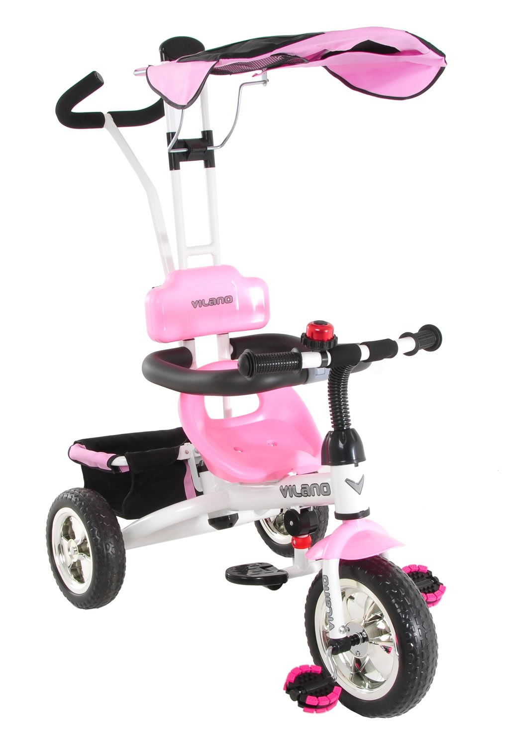Vilano 3 in 1 Tricycle & Learn to Ride Trike, Pink