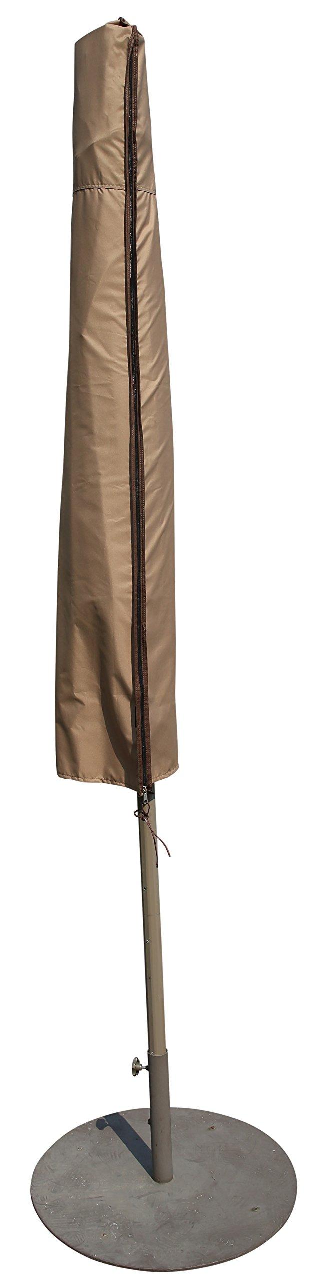 SORARA Patio Umbrella Cover for 9'-11' Umbrella, Water Resistant, Brown by SORARA