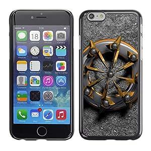 Caucho caso de Shell duro de la cubierta de accesorios de protección BY RAYDREAMMM - Apple iPhone 6 - Metal Biker Gold Platinum