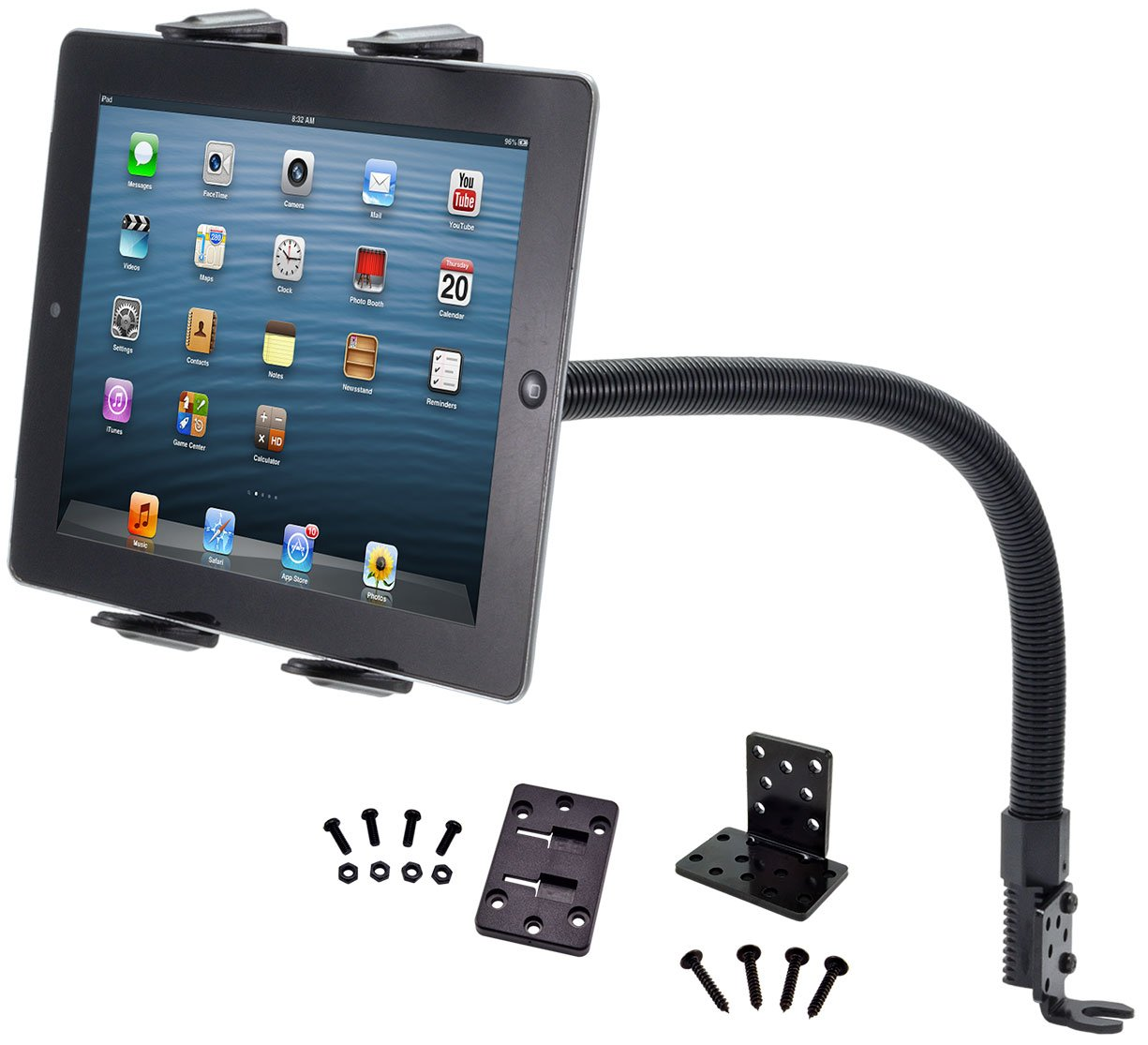 Arkon Car or Truck Seat Rail or Floor Tablet Mount with 22 inch Arm for iPad Pro iPad Air 2 iPad Retail Black by ARKON (Image #2)