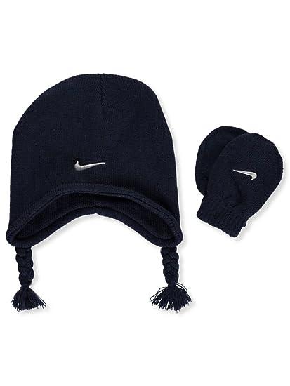 e11342f9c89 Nike Baby Boy Knit Peruvian Hat   Mittens Set (12 24 Months)  Amazon.co.uk   Clothing