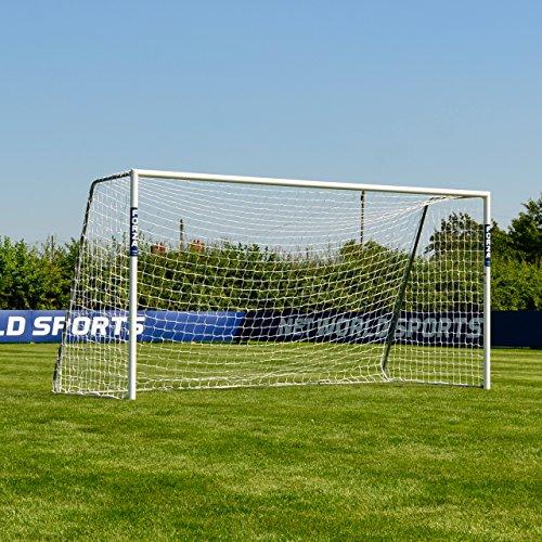 FORZA Alu60 Soccer Goal (12ft x 6ft) (Single or Pair) (Optional Target Sheet) – Super Strong Aluminum Soccer Goal Perfect For Mini Soccer [Net World Sports] (Single (Buy Football Goal Posts)