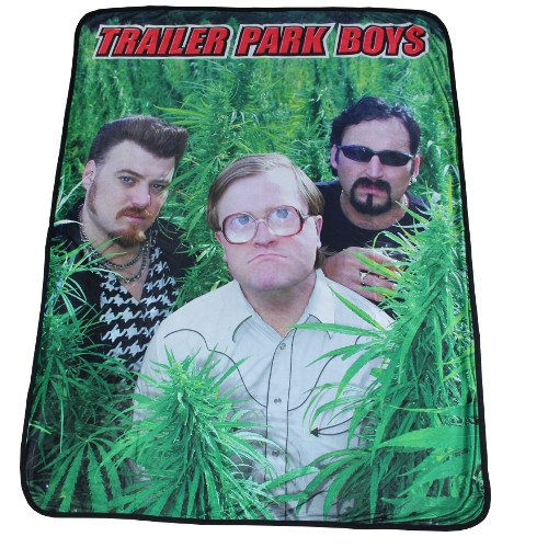 """Rabbit Tanaka Trailer Park Boys 46"""" X 60"""" Fleece Throw, used for sale  Delivered anywhere in USA"""