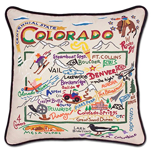 Colorado State Pillow by Catstudio by Catstudio