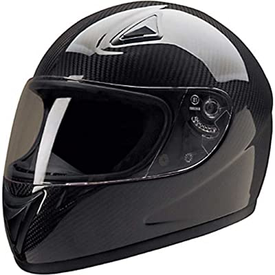 HCI Light-Weight Carbon Fiber Full Face Motorcycle Helmet - Fully-Vented 75-750