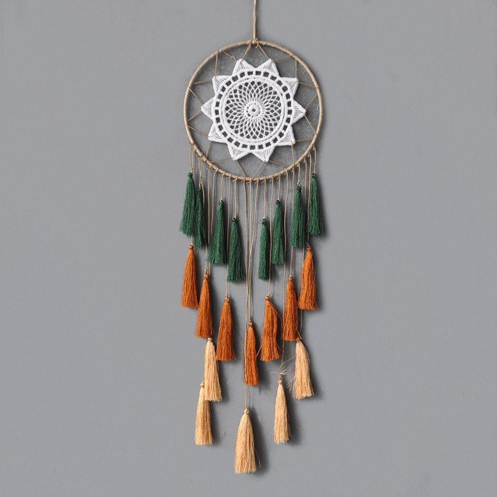 Willing Life Macrame Wall Hanging Colorful Tassel Dream Catcher Wall Decoration 23.6 L Ornament Gift