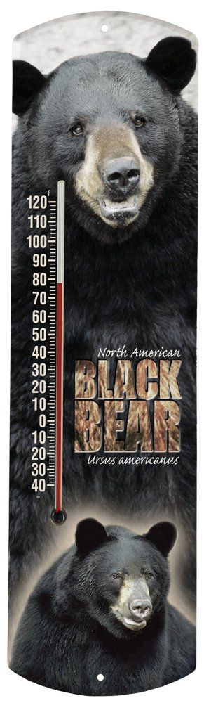 Heritage America by MORCO 375BB Black Bear Outdoor or Indoor Thermometer, 20-Inch