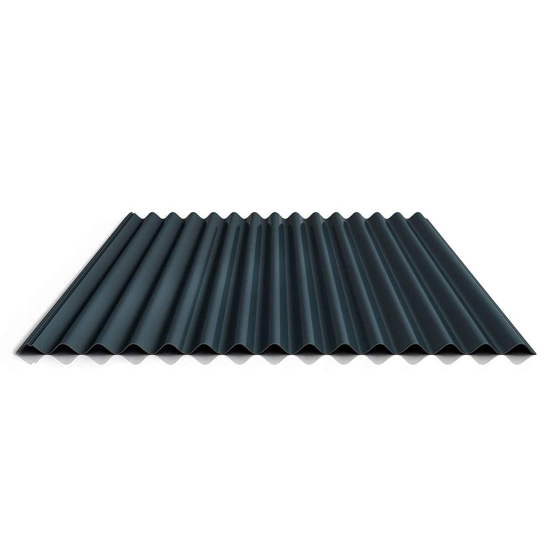 Wellblech St/ärke 0,70 mm Material Aluminium Profil PA18//1064CR Dachblech Farbe Graualuminium Profilblech Beschichtung 25 /µm