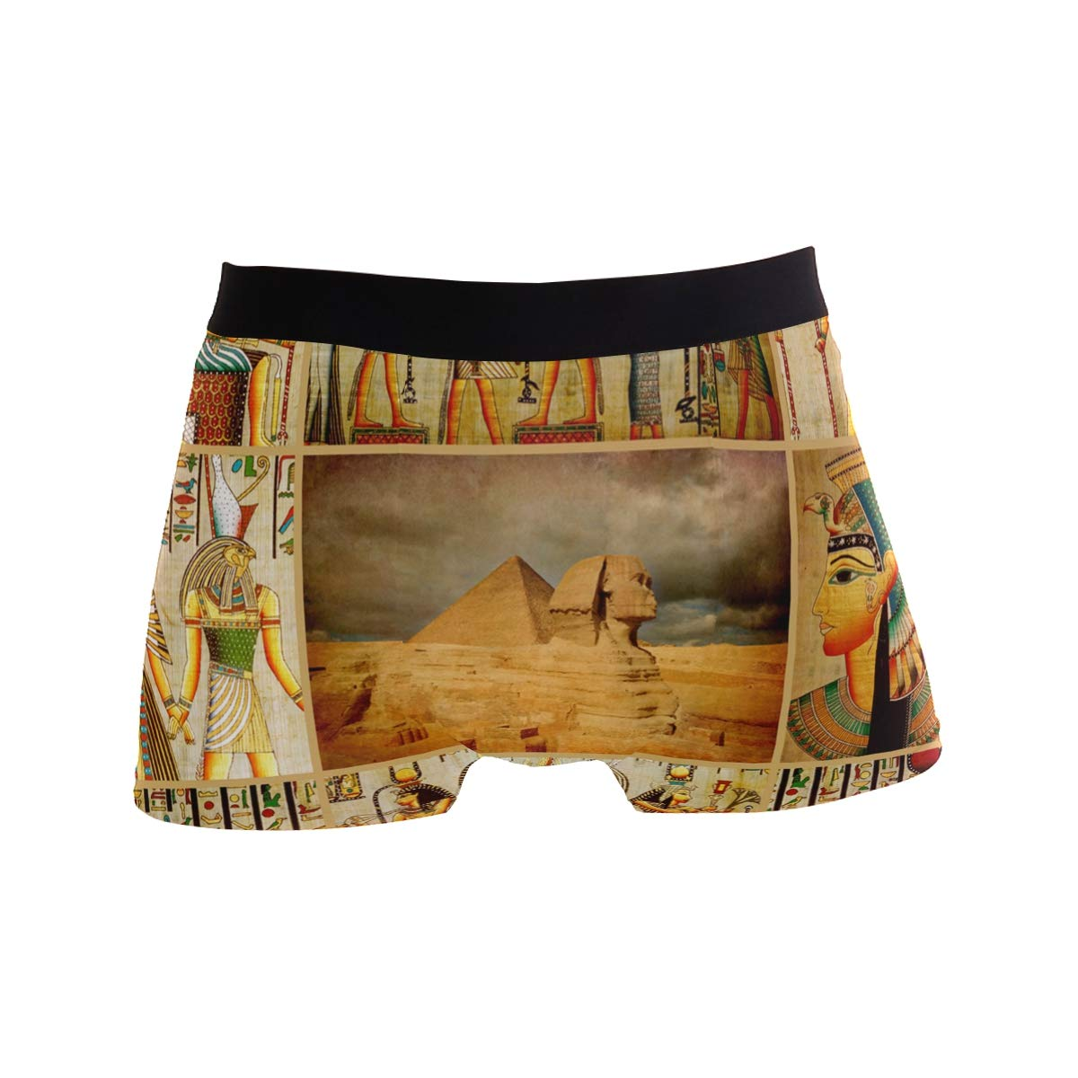 Egyptian Culture Pyramid Great Sphinx Vintage Boxer Briefs Mens Underwear Pack Seamless Comfort Soft