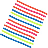 NUOBESTY 12pcs Stretchy String Fidget Sensory Toys Monkey Noodle Toys Party Favors Gifts for Kids and Adults (Random…