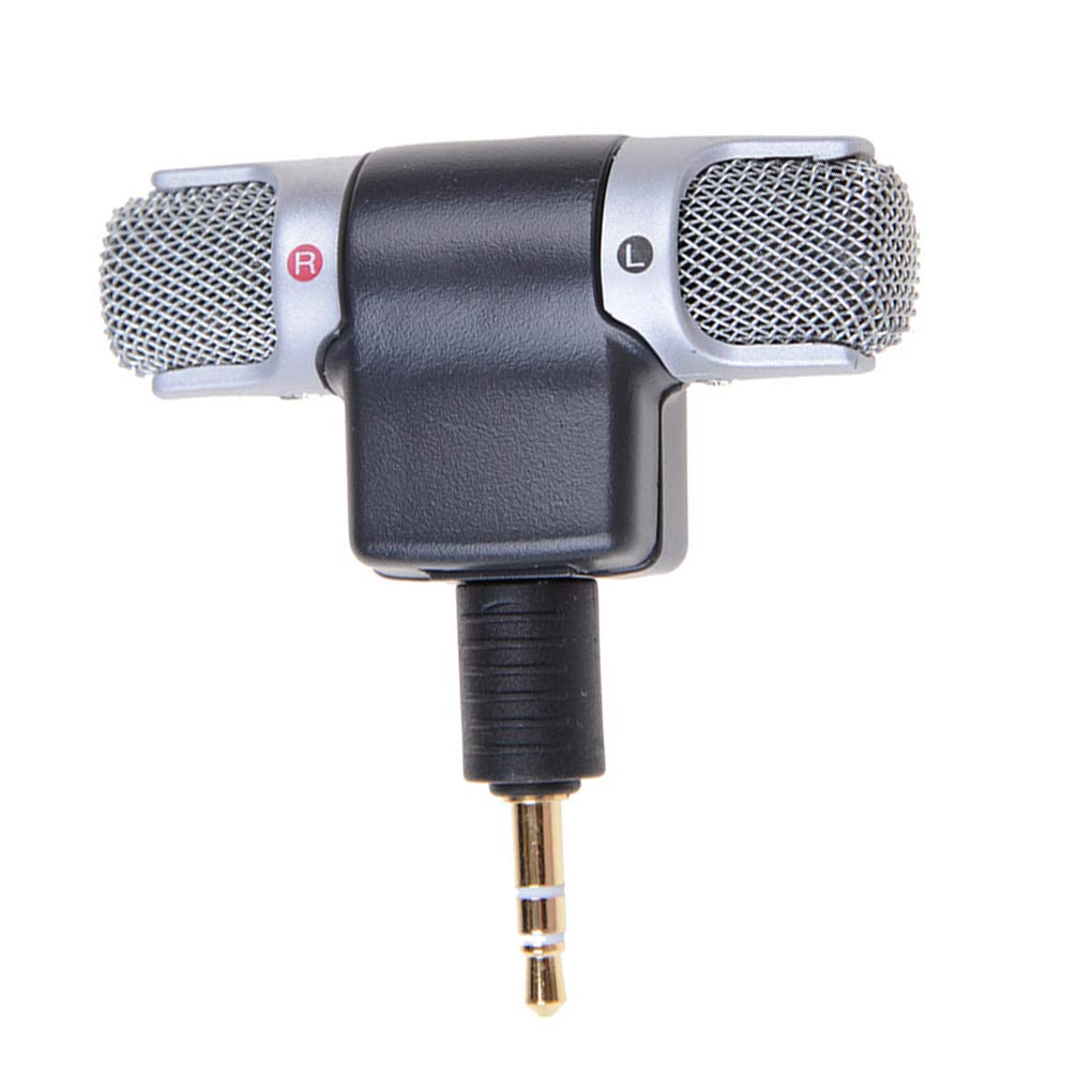fgyhtyjuu Mini PC//Handy 3,5 mm Mikrofon tragbar Stereo Dual Channel Digital Mikrofon Voice Sound Recorder