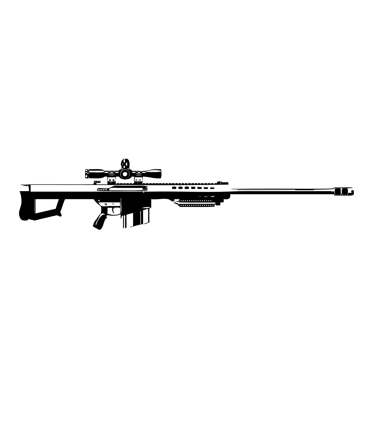 Amazon com stickerbrand 50 cal caliper sniper rifle gun wall decal 15in x 72in black color jh264b home kitchen