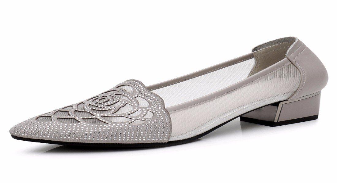 HBDLH-Damenschuhe Mesh-Sandalen Sommer Schwere Schuhe Mittlere und Starke Starke Starke Hat Bohrer Schuhe Flache Mulde Damenschuhe. 814205
