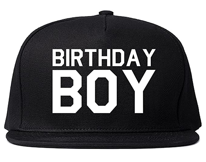 Birthday Boy Snapback Hat Cap Black