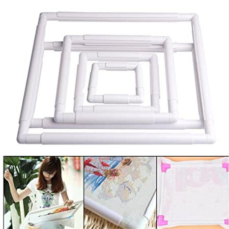 5 Size Embroidery Clip Frame,Plastic Sewing Hoop, Square Frame Hoop ...