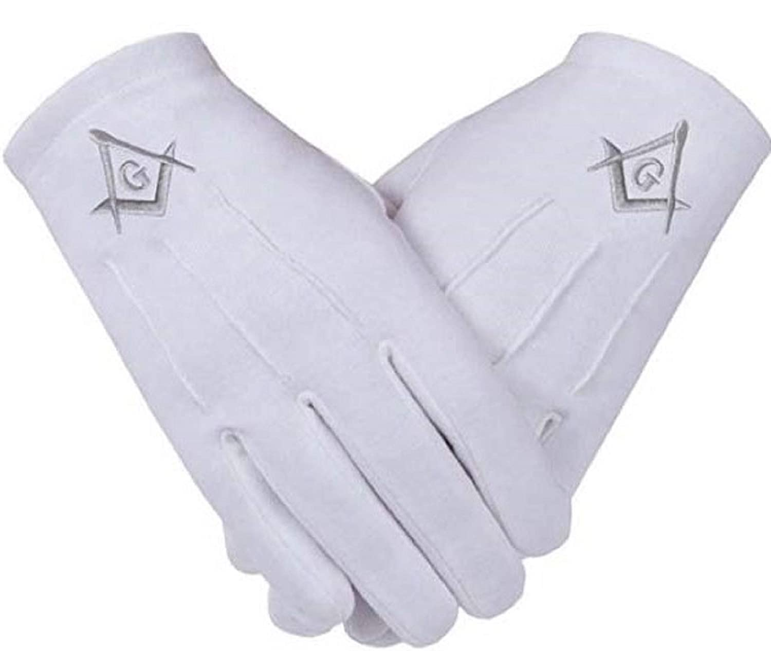 Freemasons Masonic Gloves in Cotton in Silver Embroidered SC&G ...
