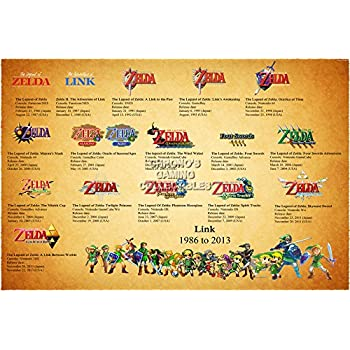 amazon com cgc huge poster the legend of zelda timeline zel027