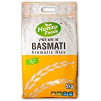 Hunza Foods Basmati Rice 5kg - Premium White Long Grain and Fragrant Rice Basmati from The Foothills of Himalayas