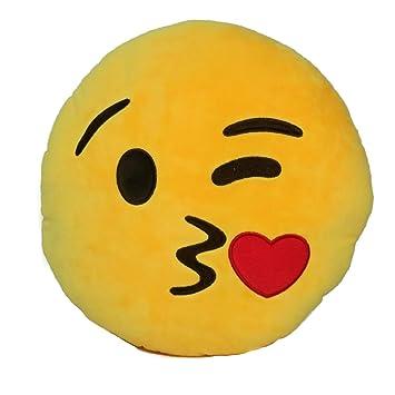 Amazon.com: Emoji Comfort Emoji Smiley Round Yellow Emoticon ...