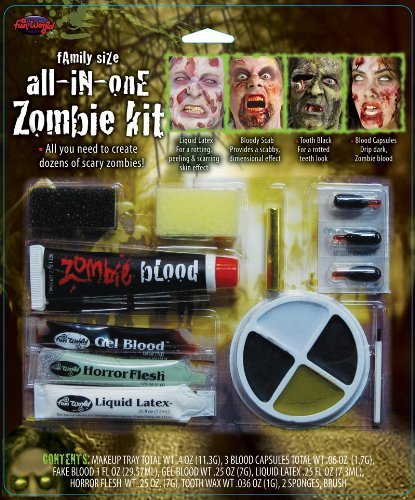 Family Size All In One Zombie Kit Costume Makeup (Dead Makeup)