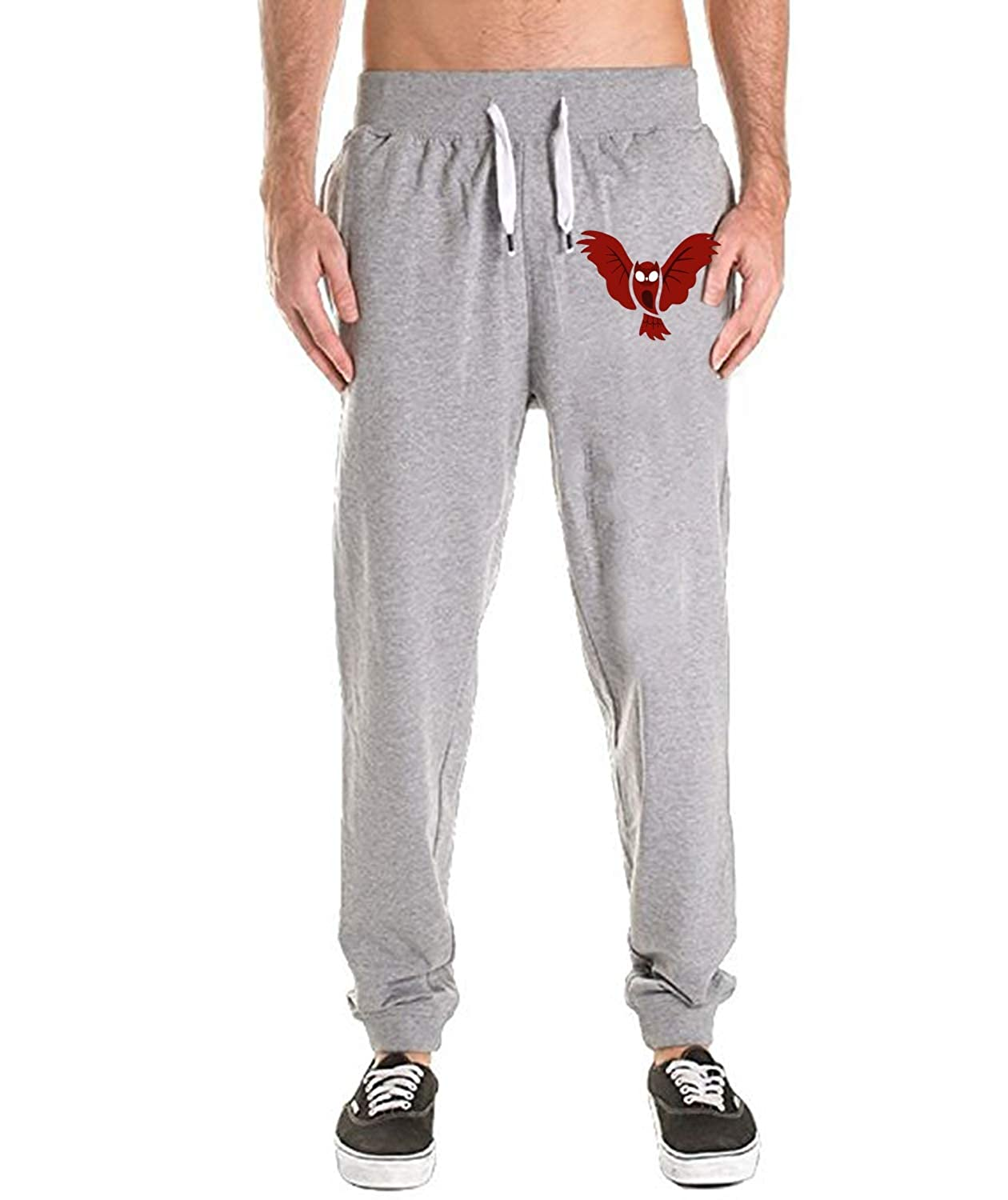 Mens Athletics Jogger Pants Active Comfortable Pocket Workout Halloween Bats Sweatpants