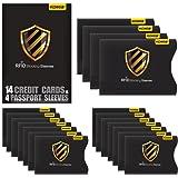 Protezione RFID, Kollea 18 Pack Custodie Blocco RFID Carta di Credito e Passaporto [4 Custodie per passaporto & 14 Porta carta di identità ]