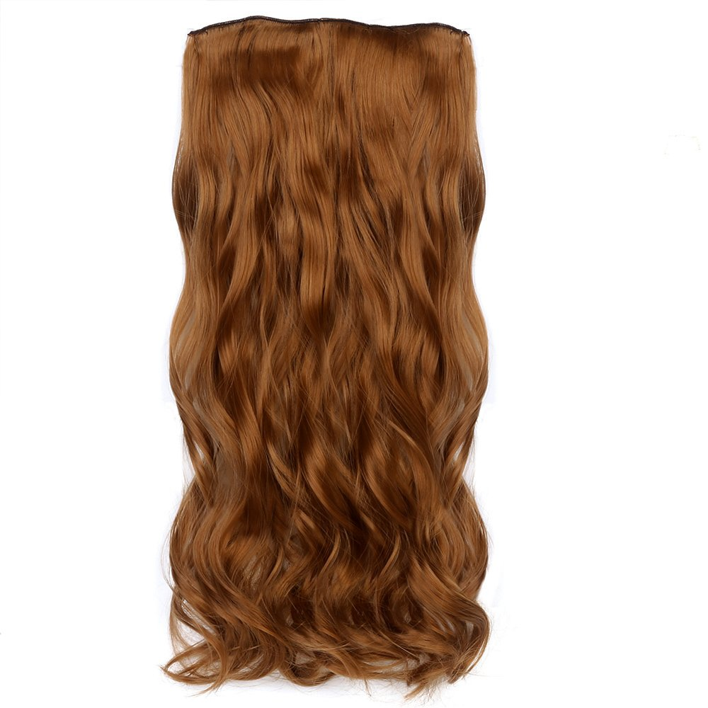 Neverland Beauty 227 Pcs 16 Clips Clip in Full Head Wavy Curly Hair Extensions Mix Blionde Light Brown Neverland Beauty & Health