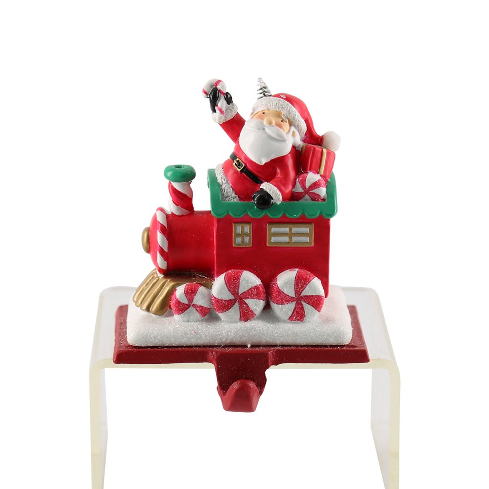 Ticoks Resin Christmas Stocking Holder Snowman Sock Holder Santa Claus with Gift Box Hanger Festival Decoration Gift (Snowman)