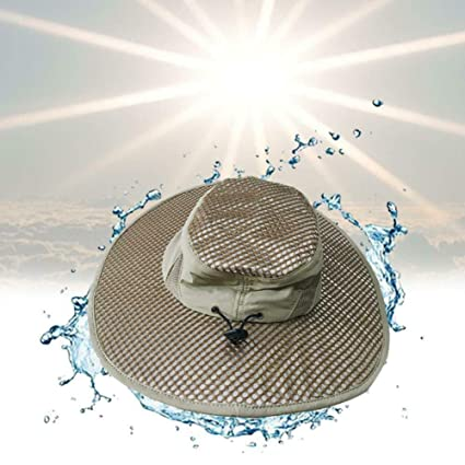 41f03d89 Amazon.com : Hydro Cooling Bucket Hat Arctic Breathable Hat with UV  Protection Keeps You Cool & Protected : Sports & Outdoors
