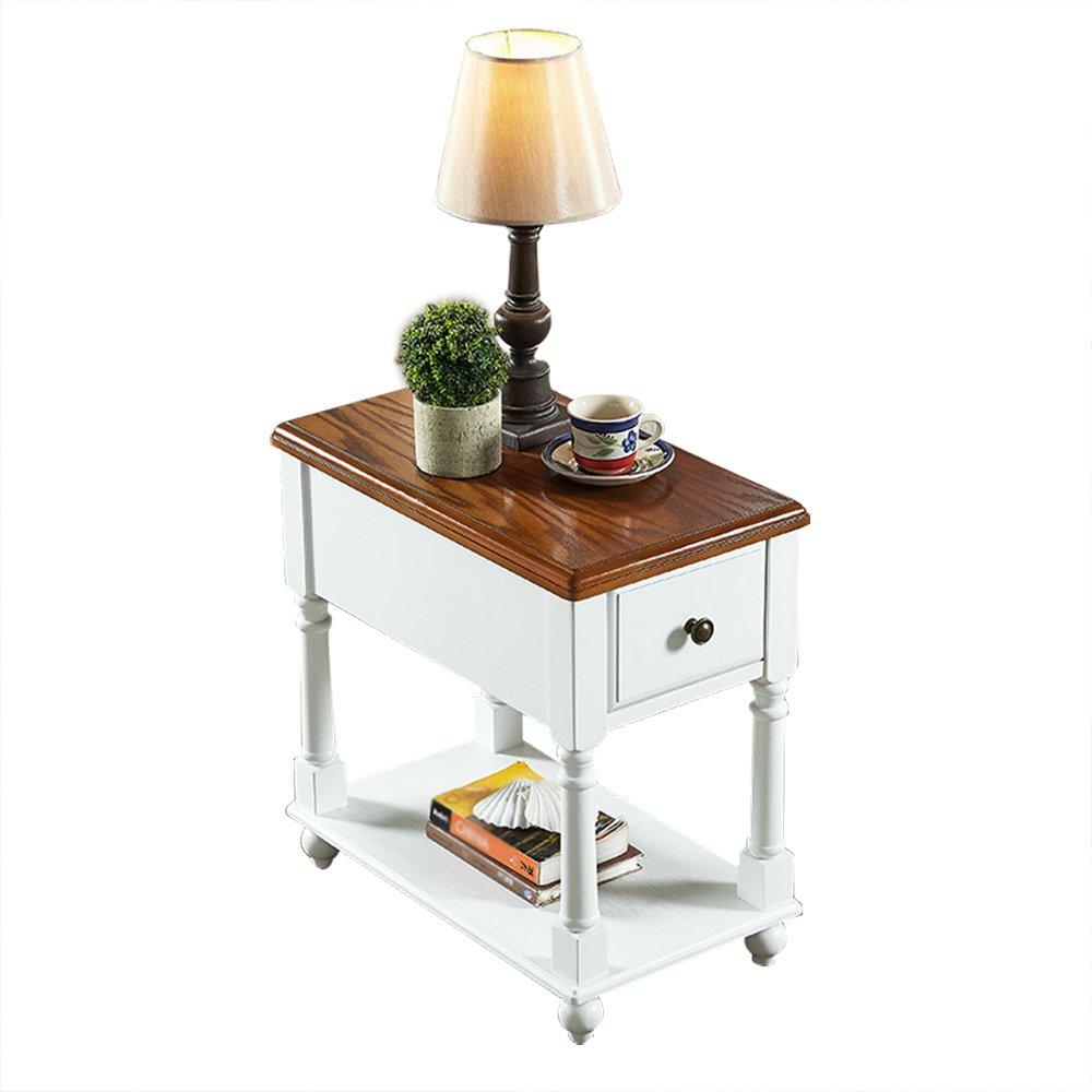 Nachttisch Nachttisch - Schubladenschrank Massivholz Couchtisch Sofa Beistelltische Couchtische Beistelltisch Moderne Schlafzimmer Tisch Möbel (Montiert, Größe: 56x33x59cm) Endtische ( Color : B )
