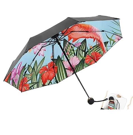 Zhrui Coloridos paraguas de lluvia Mini paraguas plegable a prueba de viento bolsillo automático Ultra-