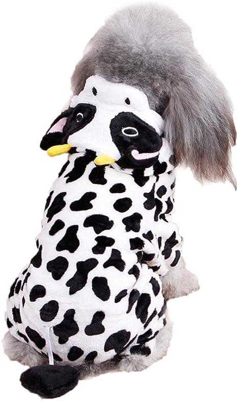 Kanghua Disfraz de Vaca para Perro – Adorable Disfraz de Halloween ...