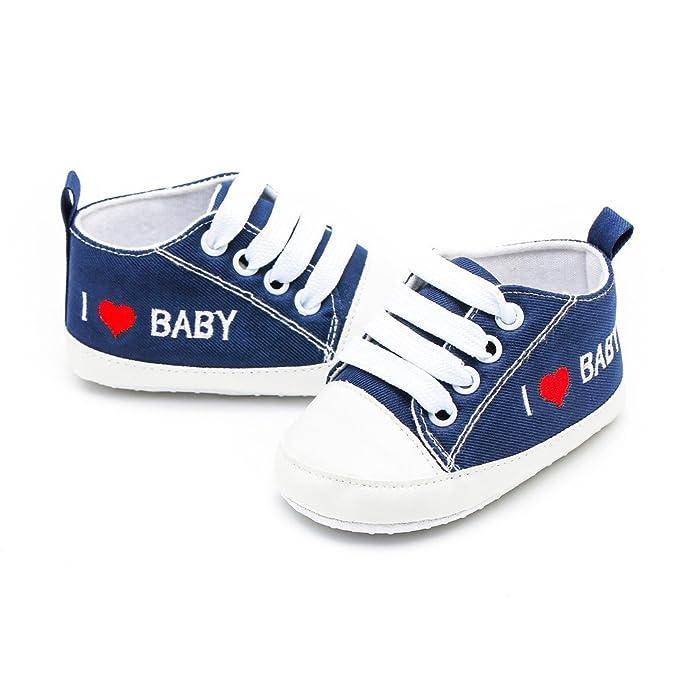 ❤ Zapatos de Primer Paso, bebé recién Nacido bebés niñas Letra de corazón impresión sólidos Zapatos de Suela Suave Absolute: Amazon.es: Ropa y accesorios
